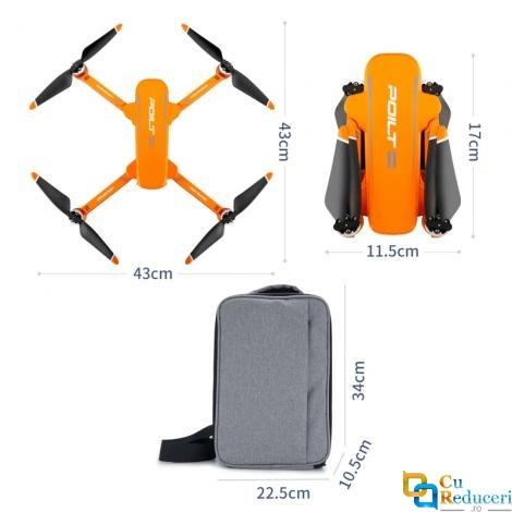 Drona profesionala JJRC X17 6K 5G GPS, camera 6K ESC HD, GPS Follow Me, buton de Return To Home, stabilizator 2 axe, baterie 11.1V 2850 mAh, autonomie zbor ~ 28 de minute