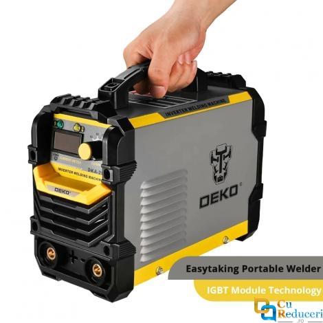 Aparat de sudura DEKO DKA - 200Y tip invertor, curent arc 200A, puterea de intrare 4.1KVA, electrod 1.6 - 4.0 mm, clasa de protectie IP21S
