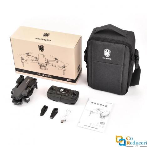 Drona KAI ONE PRO cu 2 camera, 4k/8k HD 5G Wifi GPS, Gimbal cu 3 axe, brate pliabile, buton de Return To Home, card SD, distanta de control: ~1200 m, autonomie zbor ~ 25 de minute