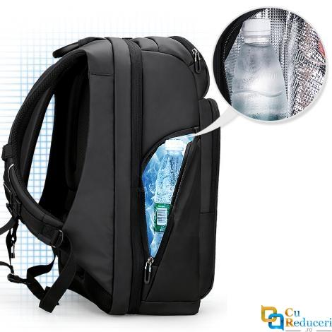 Rucsac/ghiozdan Mark Ryden Smart pentru laptop 15.6, port USB, complet impermeabil, sistem antifurt, unisex, spatios, compartiment produse ude, negru, calatorie, scoala sau servici
