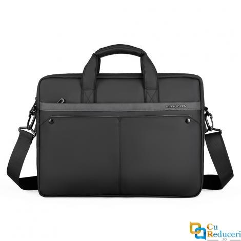 Geanta/servieta de umar Mark Ryden potrivita pentru laptop 15,6 si tableta 9.7, impermeabila, rezistenta la uzura/socuri, ergonomica, neagra,  potrivita pentru afaceri, scoala sau timp liber