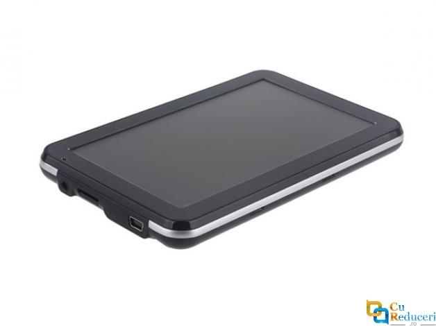 Navigator GPS, 886, 5 inch cu touch screen, memorie 8GB, cache 256M, rezolutie  800 x 480 pixeli, capacitate baterie 1200 mAh, harti IGO/Navitel, harta Europei + actualizari pe viata a hartilor
