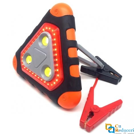 Acumulator extern pornire auto / Jump Starter, 12 V, curent pornire 300 A/5 sec., 5V/2.1A, curent maxim 600 A, capacitate 12000 mAh, lanterna, putere 38.4 Wh