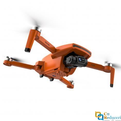 Drona ZLRC SG108 PRO, dual camera 4K HD 5G WIFI GPS FPV, Gimbal cu 2 axe, capacitate baterie: 7.4V 2200mAh, autonomie zbor ~ 28 de minute, distanta de zbor 1000m, portocalie